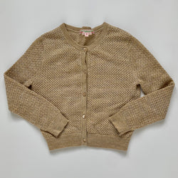 BonpointGold Metallic Crochet Cardigan: 6 Years