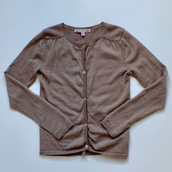 Bonpoint Toffee Fine Wool Cardigan:  Years
