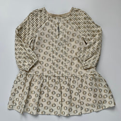 Burberry Gold And Silver Silk Mix Dress: 4 Years