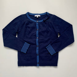 Jacadi Navy Cardigan With Bow: 6 Years