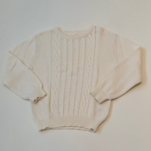 Marie-Chantal Cream Cable Knit Cotton Jumper: 4 Years