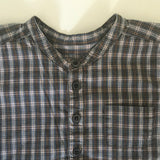Bonpoint Tartan Cotton Collarless Shirt