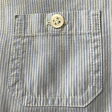 Bonpoint Blue And White Stripe Cotton Shirt With Pocket: 12 Months