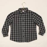 Marie-Chantal Dark Grey Checked Shirt With Collar