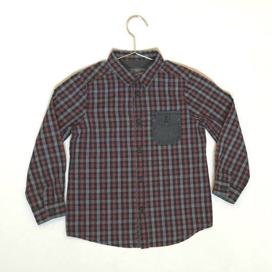 Bonpoint Check Shirt With Contrast Pocket