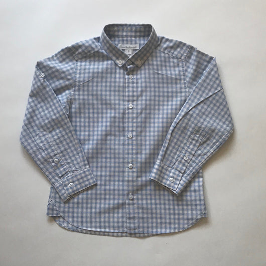 Marie-Chantal Blue And White Check Cotton Shirt