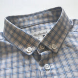 Marie-Chantal Blue And White Check Cotton Shirt: 5 Years
