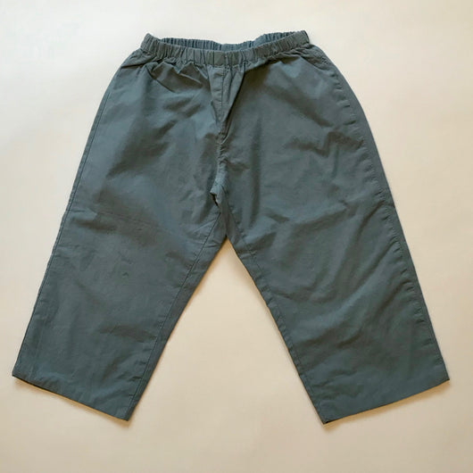 Bonpoint Teal Cotton Trousers