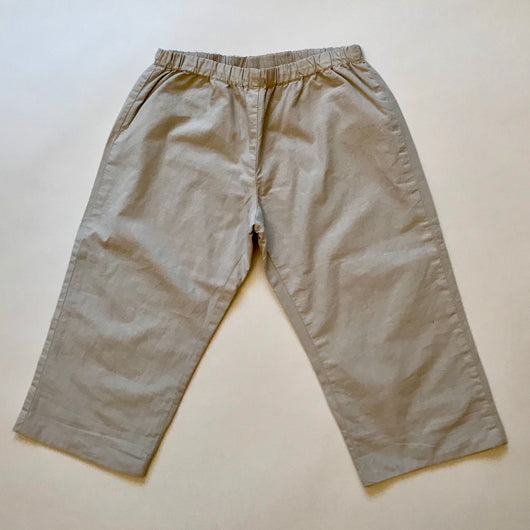 Bonpoint Stone Cotton Trousers: 3 Months & 2 Years