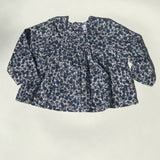 Miller Grey And Blue Liberty Print Blouse: 12 Months