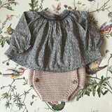 Bonpoint Liberty Print Smocked Baby Blouse