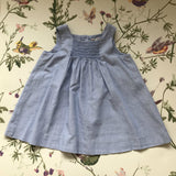 Bonpoint Chambray Summer Dress With Smocking