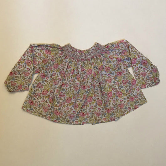 Bonpoint Liberty Print Baby Blouse With Smocking