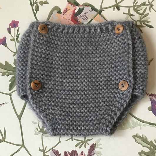 Tocoto Vintage Grey Knitted Bloomers