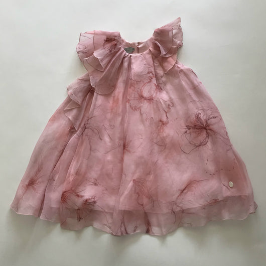 Baby Dior Pale Pink Silk Chiffon Dress