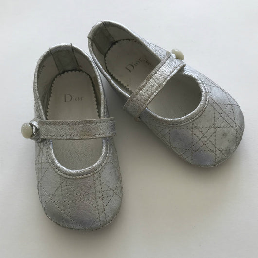 Baby Dior Silver Mary-Jane Style First