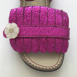 Gucci Fuchsia Fringed Sandals: Size 25