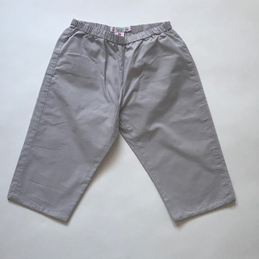Bonpoint Light Grey Cotton Trousers: 18 Months