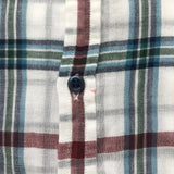 Bonpoint White, Maroon And Blue Check Cotton Shirt