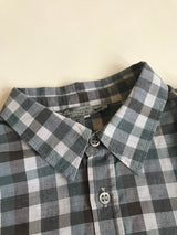 Bonpoint Grey And Teal Check Shirt: 6 Years