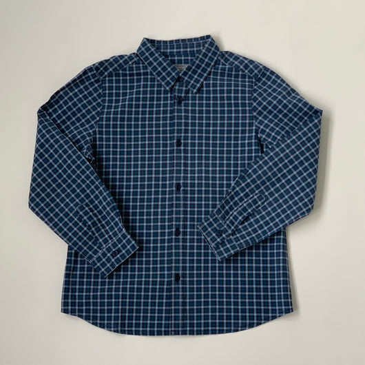 Bonpoint Navy Cotton Check Shirt