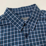 Bonpoint Navy Cotton Check Shirt: 6 Years
