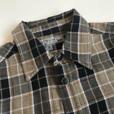Bonpoint Dark Mustard And Black Brushed Cotton Check Shirt: 6 Years