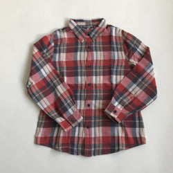 Bonpoint Red Brushed Cotton Check Shirt: 6 Years