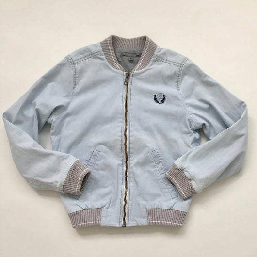 Bonpoint Pale Denim Bomber Jacket: 6 Years