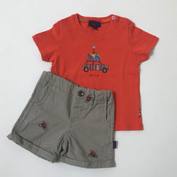 Paul Smith Logo T-Shirt And Shorts Set: 1 Year