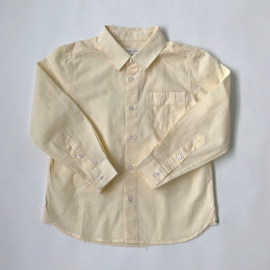 Marie-Chantal Pale Yellow Cotton Shirt: 5 & 6 Years