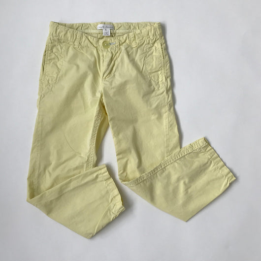 Marie-Chantal Lemon Yellow Cotton Chinos