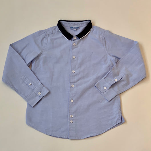 Jacadi Blue Cotton Shirt With Jersey Collar: 6 Years