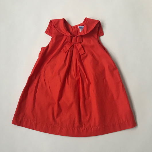 Jacadi Red Sailor Style Cotton Dress: 18 Months