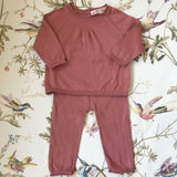 Bonpoint Rust Cotton Jumper And Leggings Set