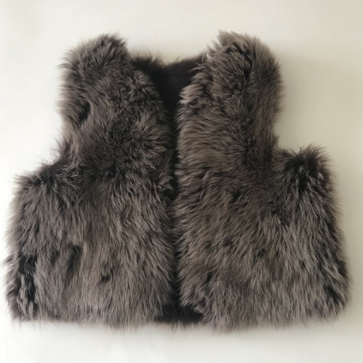 Belle Enfant Brown Sheepskin Gilet