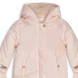 Chloé Pale Pink Snowsuit With Faux Fur Lining
