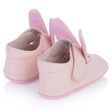 Minna Parikka Pink Patent Bunny Ears Crib Shoes: Size 17 (Brand New)