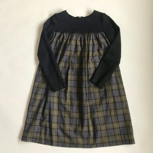 Bonpoint Black & Tartan Wool Dress: 12 Years