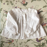 Chloé White Cotton Blouse With Pintuck Detailing