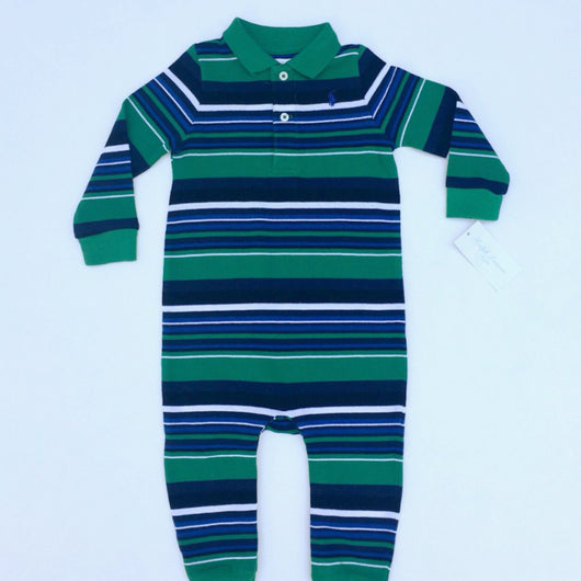 Ralph Lauren Long Sleeved Stripe All-In-One