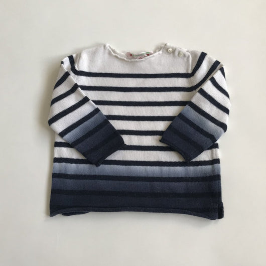 Bonpoint Cotton Ombre Stripe Jumper: 12 Months & 6 Years