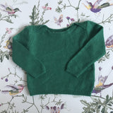 Caramel Forest Green Cashmere Jumper