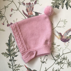 Rachel Riley Pink Wool/ Cashmere Mix Bonnet