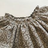 Marie-Chantal Taupe Floral Cotton Dress: 18 Months (Brand New)
