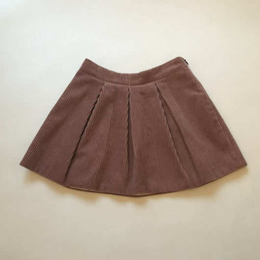 Bonpoint Dusty Pink Pleated Cord Skirt: 6 Years