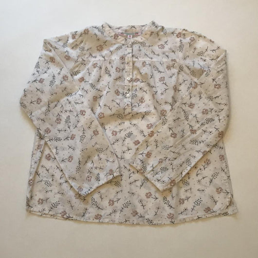 Bonpoint Cream Floral Cotton Blouse