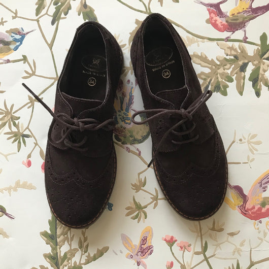 Papouelli Brown Suede Brogues