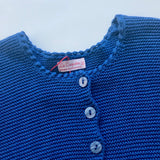 La Coqueta Royal Blue Cotton Rib Cardigan