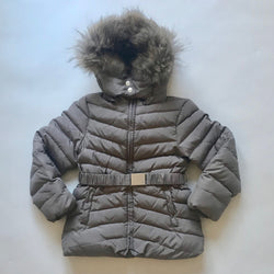 Tartine et Chocolat Taupe Fur Lined Down Parka
